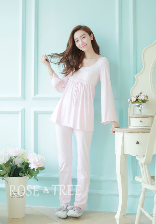 Free Shipping Princess Women's Pink Pajamas Pants Set  Lace Decoration Sleepwear Home Cloth pijamas femininos verao