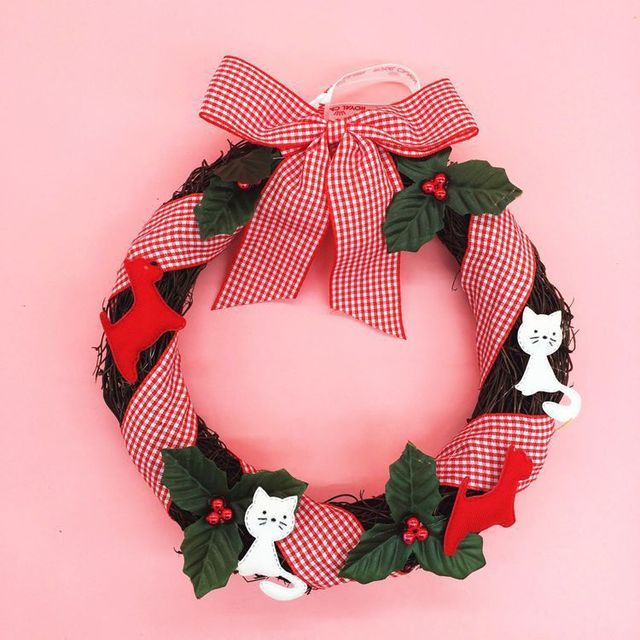 1pcs Christmas wreath cartoon wreath Christmas wreath stores shopping malls decorative items Christmas decoration gifts
