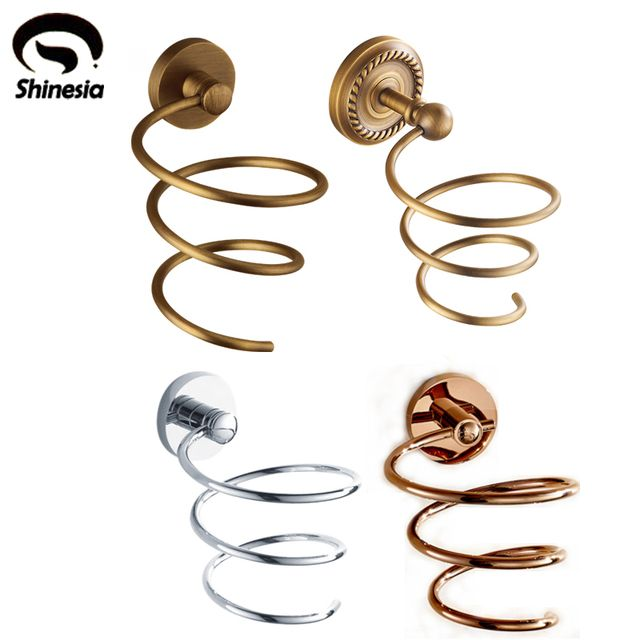 Modern Style Solid Brass Bathroom Hair Dryer Holder Bathroom Accessories Bath Hardware