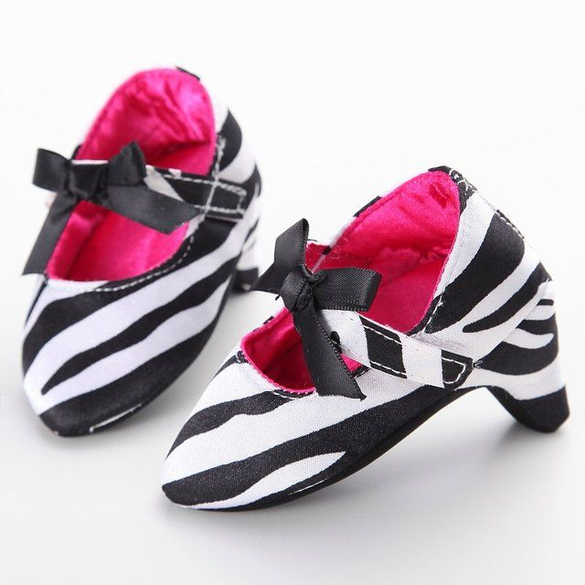 New Baby Girl Princess Fashion Sweet Beautiful Baby Toddler Baby Crib Shoes Bow High Heels P1