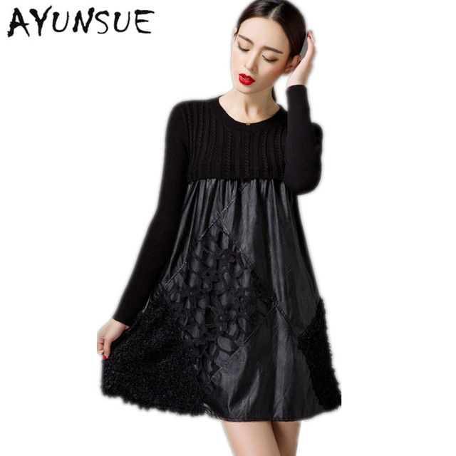 2017 Plus Size 4XL Women's Dresses Casual Black Dress Lace Party Dresses Embroidered Sexy Winter Dress Women Clothing FYY266