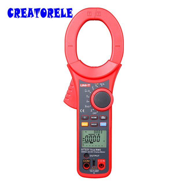UNI-T UT221 3 5/6 Digit True RMS Digital Clamp  2000A AC/DC Digital Clamp s ICD Backlight Frequency Test Multi