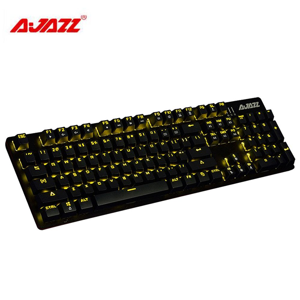Original Ajazz ROBOCOP Wired Mechanical Keyboard Backlights Brown/Black/Red/Blue Switches 104 Keys Anti-ghosting Gaming Keyboard