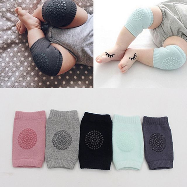1 Pair Infant Toddler Knee Pads Anti Slip Crawling Safety Leg Warmers Crawling Accessory Baby Knees Protector dropshipping