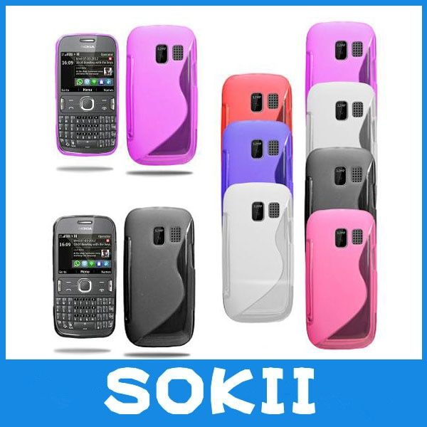 forSokii,Grip S Line Wave Gel Case Soft Phone Cover For Nokia Asha 302 case