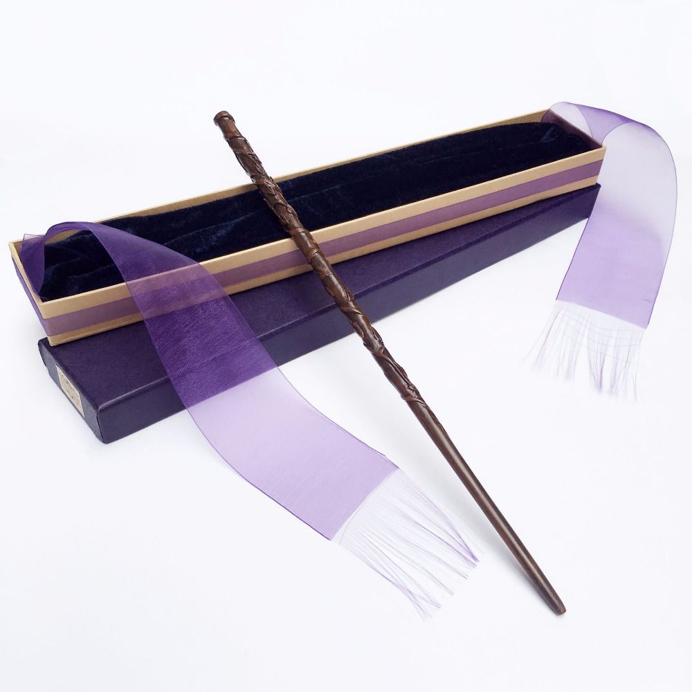 New Arrive Metal/Iron Core Hermione Magic Wand/ Harry Magical Wand/ Elegant Ribbon Gift Box Packing