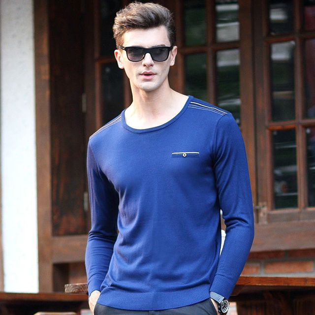 Hot Sale New 2016 Fashion Sweter Hombre De Lana Slim Fit Cashmere Winter Knitted Sweaters Men V-necked Brand Wool Pullovers
