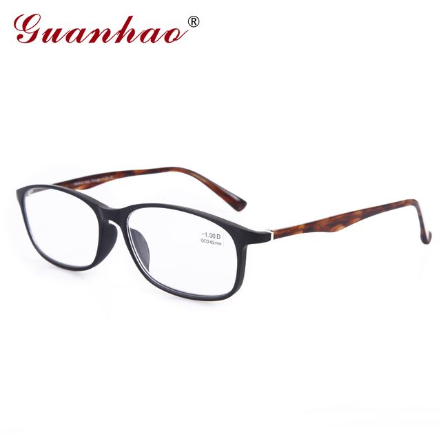 Guanhao TR90 Front Frame with Acetate Temples lazy Glasses Reading Glasses Men And Women Reading Glasses 1.0 1.5 2.0 2.5 3.0