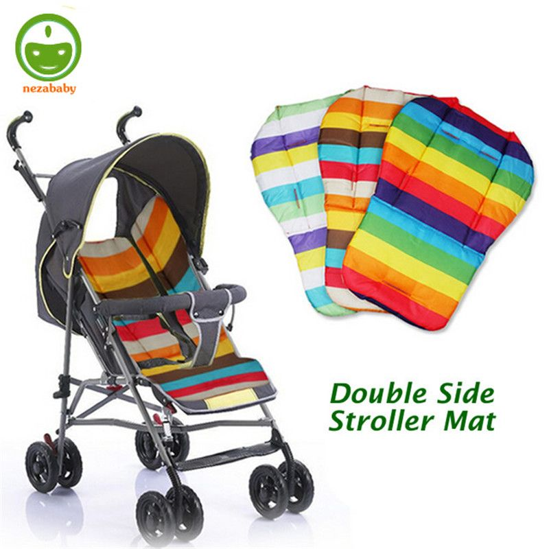 General baby stroller seat cushion double side baby stroller mat rainbow infant baby stroller pad baby stroller accessories TC15