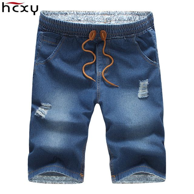summer style Special Men Casual shorts fashion Male Denim shorts Slim micro elastic fabric brand jeans shorts men size M-5XL