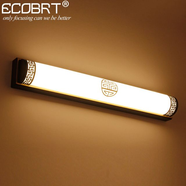 ECOBRT Traditional Style Brass LED Wall Lights in bathroom 20W 24W Black Wall Lights led lighting Fixtures 110V / 220V