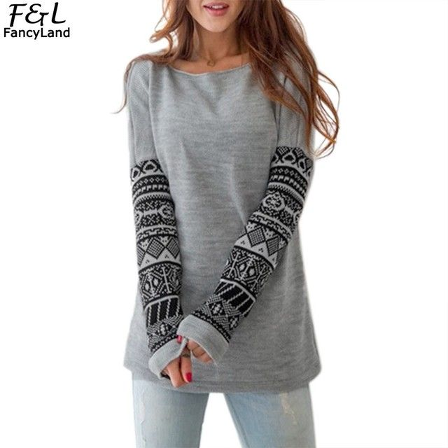 Sweatshirt Women Hoodies 2017 Autumn Women Sweatshirts Cotton Striped Print Full Sleeve O Neck Casual Pullovers Hoodies Harajuku