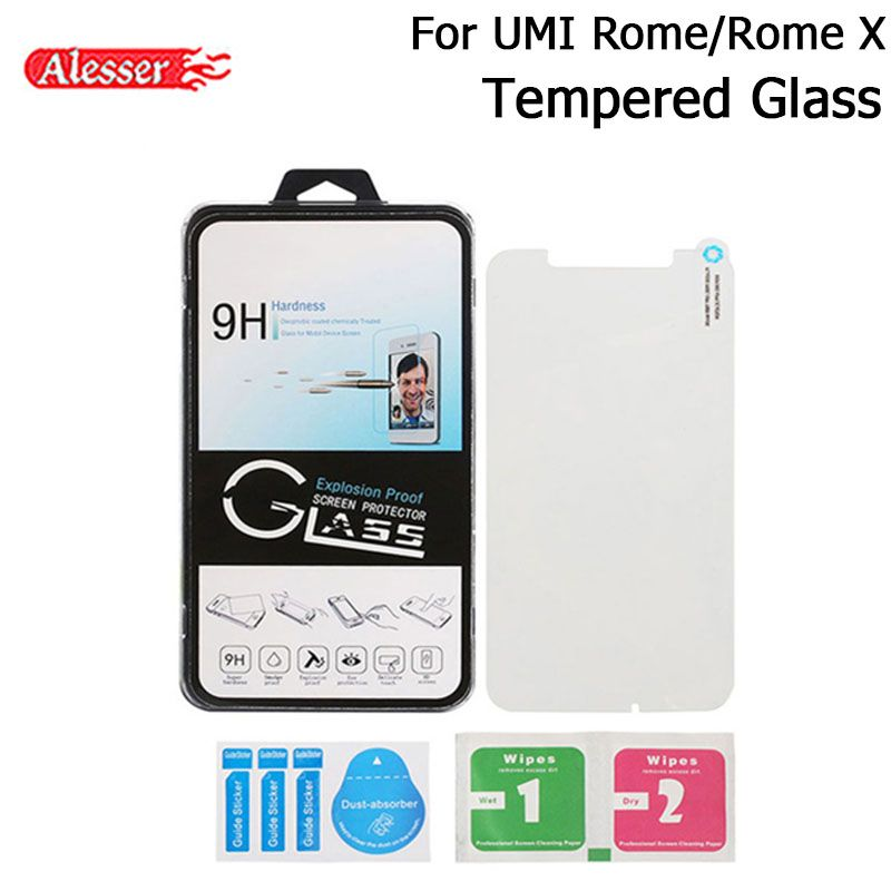 Alesser For UMI Rome Tempered Glass Screen Protector Guard For UMI Rome X Shockproof Phone Screen Protective Glass Film