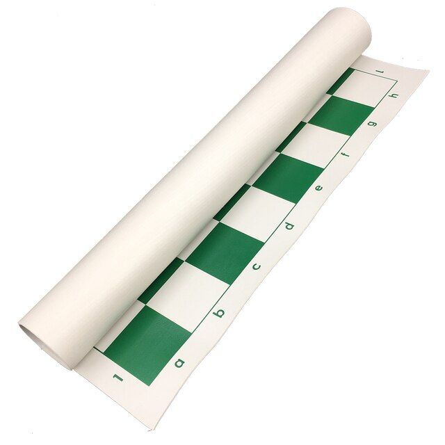 chess board 50 cm x 50 cm PVC Chess Game Parts Chess Accessories Portable Green Chessboard