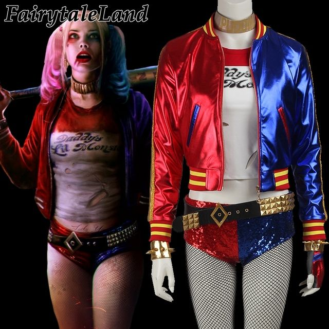 Suicide Squad Harley Quinn cosplay costume Halloween costumes for adult women costume Harley Quinn Outfit Sexy Fancy Costume