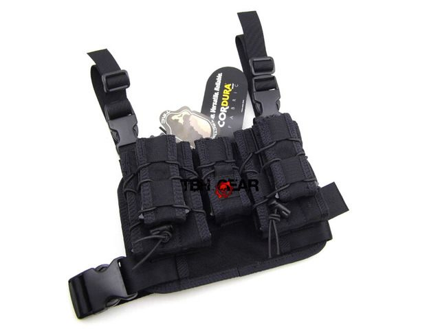 TMC Hight Hang Tactical Drop Leg Pouch Panel Platform Set Magazine Pouch In Black+Free shipping(SKU12050427)