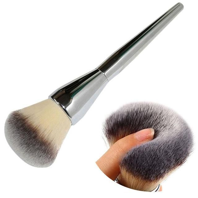 LEARNEVER Very Big Size Makeup Brushes Soft Powder Brush Foundation Round Make Up Large Cosmetics Soft Aluminum Makeup Brushes