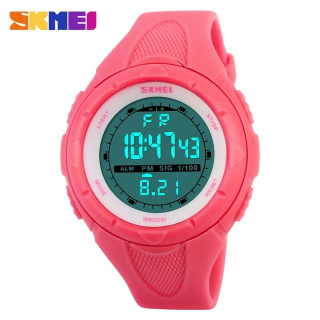 SKMEI Luxury Brand women Military Sport fashion casual  Watches Digital LED Wristwatch rubber strap gift clock relogio masculino