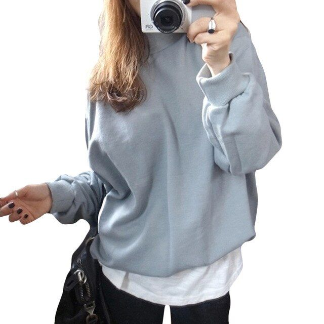 New Winter Autumn Women Hoodies Sweatshirts 2XLThick Cashmere Bottoming Tops Long sleeve Half a turtleneck Woman Candy 8 color