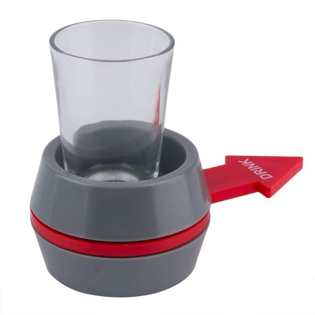 HWYHX YHX 2017 NEW arrival  Spinner Spin The Shot Glass Drinking Cup Bottle Wine Beer Game Fun Party