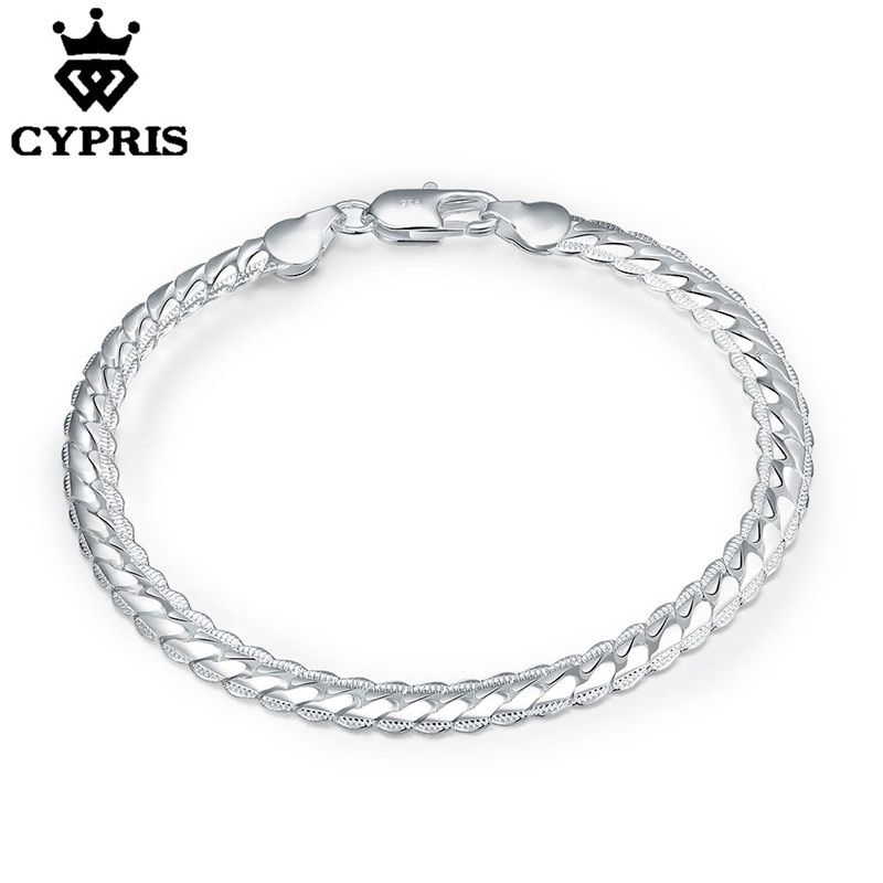 Mother's day mom H199 Lowest Price silver bracelet fashion jewelry 5mm Bracelet Armband/pulsera wholesale lady men chain unique