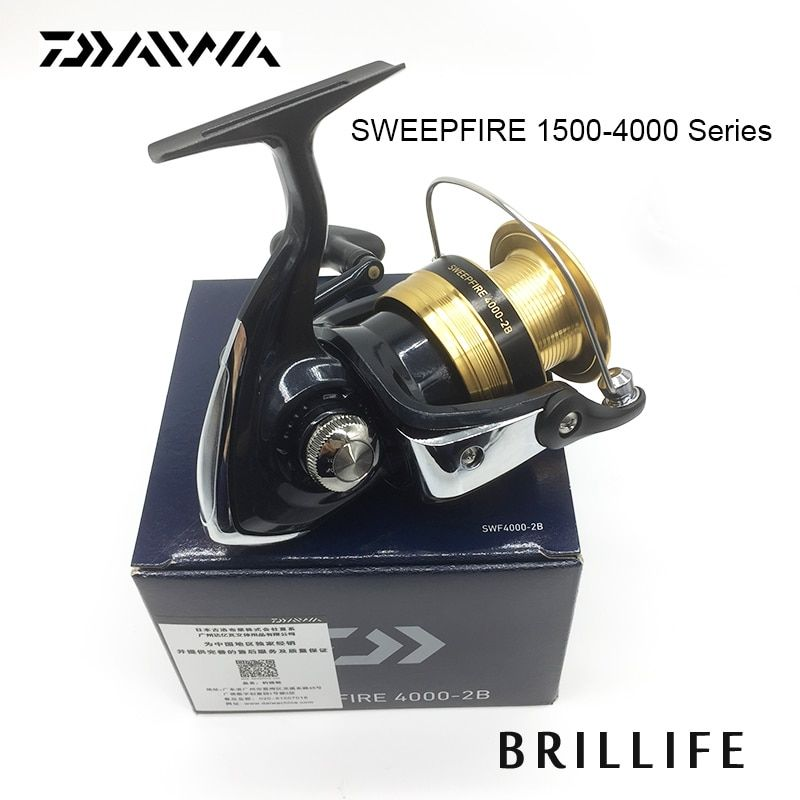 Daiwa Saltwater Spinning Reel SWEEPFIRE Spinning Fishing Reel 1500-4000 Series 2BB Lure Fishing Reel