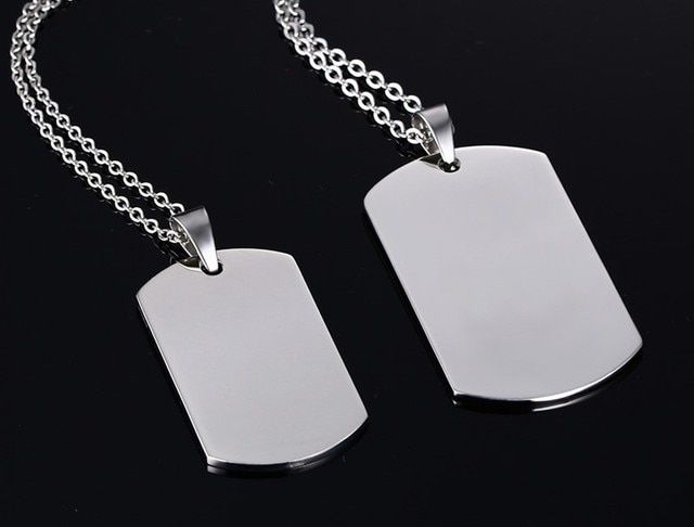 Personalized Dog Tag Pendant Necklace Military card Long Necklaces Jewelry For Men and Women Letter Can Be Customized YP2520