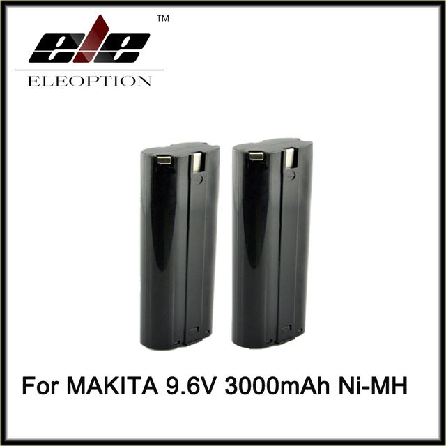 Eleoption 2 x 3.0AH Stick Style 9.6V 9.6 VOLT NI-MH 9000 Battery for MAKITA Cordless Tools