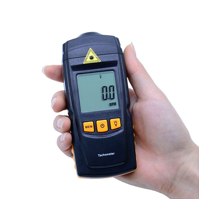 GM8905 2.5-99999rmp LCD Digital Laser Tachometer Handheld Non-Contact RPM Tach Test Meter Motor Speed Gauge