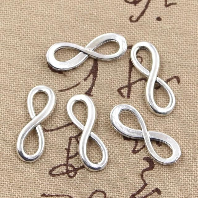 12pcs Charms infinity symbol connectors 23*8mm Antique Making pendant fit,Vintage Tibetan Silver,DIY bracelet necklace