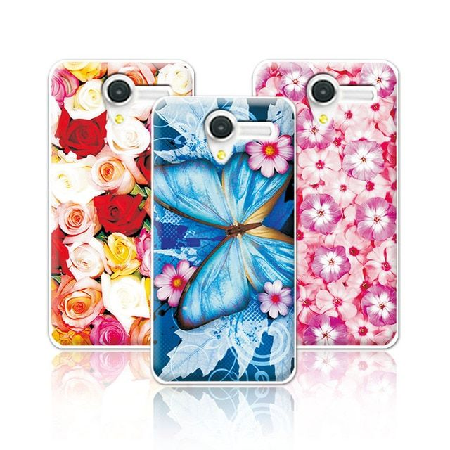 "Floral Art Painted Flower Case For Alcatel One Touch Pop 3 5.0"" 5015D 5015E 5065D Case Cover For Alcatel 5065d+Free Pen Gift"