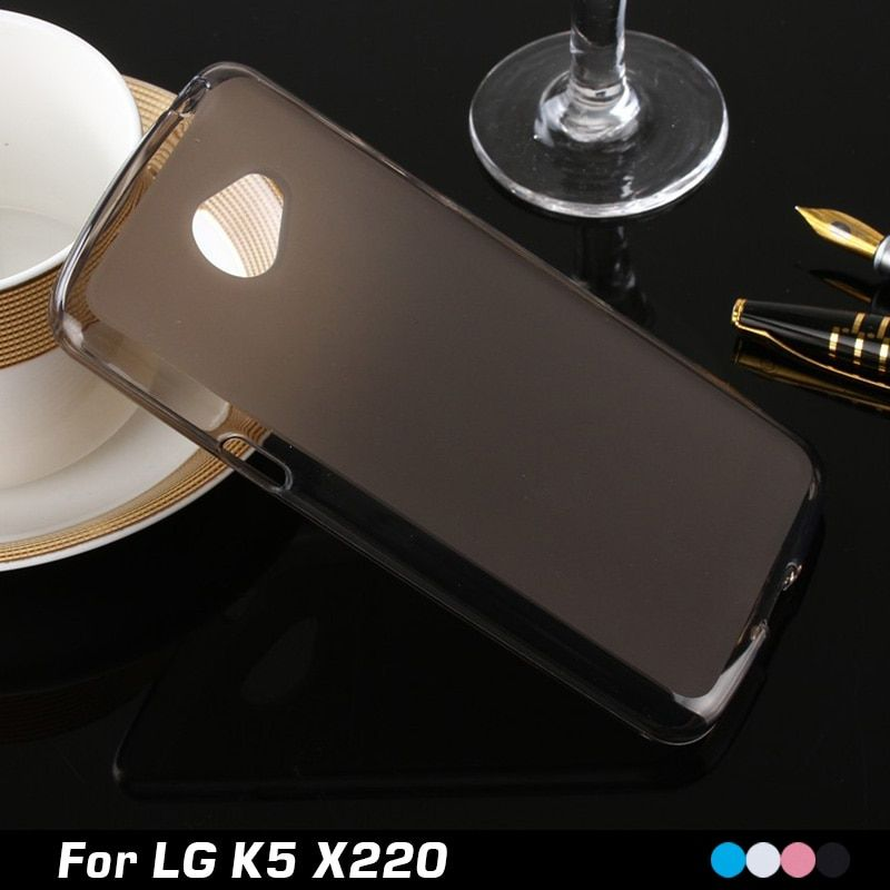 For LG K5 Case Matte TPU Back Cover Case For LG K5 X220 X220DS / LG Q6 Case Silicone Gel Soft Protective Phone Bag With Gift