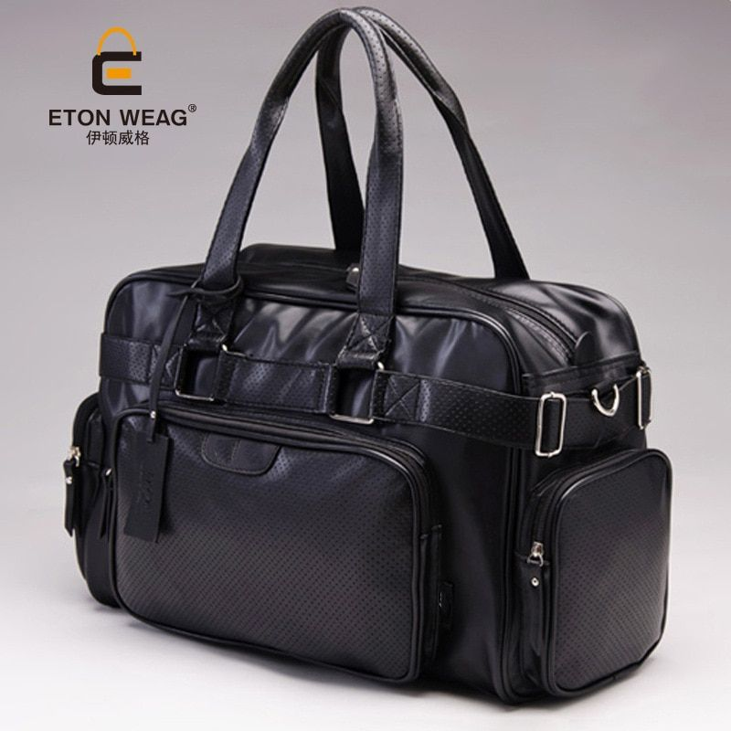 2016 new men travel bag pack fashion Leather male bag men portable shoulder bag big duffle travel tote bag