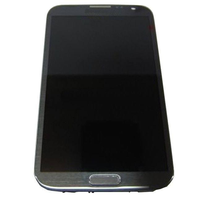 Grey Screen For Samsung Galaxy Note 2 N7100 LCD Display With Touch Screen Digitizer Assembly Replacement, Free Shipping !