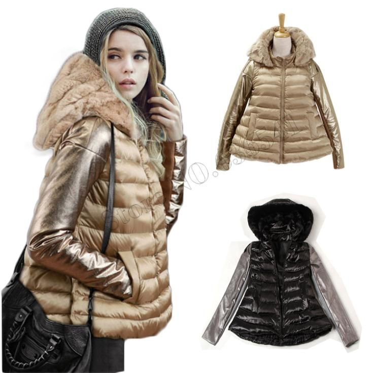 2015 Winter Jacket Women Luxury Style Winter Parkas Down Coat Ladies Real Rabbit Fur Collar Outerwear Down Jacket Free Shipping