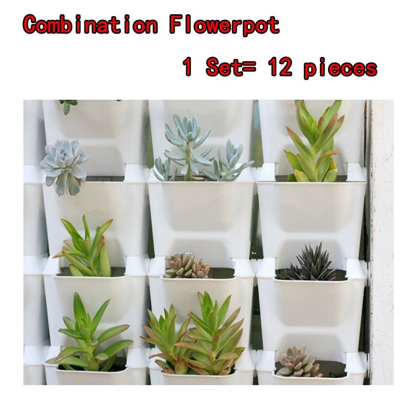 Flower pots planter for balcony flower combination flowerpot  three-dimensional wall planters pot vertical garden