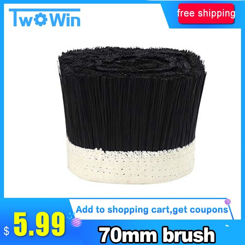 1M x 70mm Brush Vacuum Cleaner Engraving Machine Dust Cover For CNC Router For Spindle Motor.