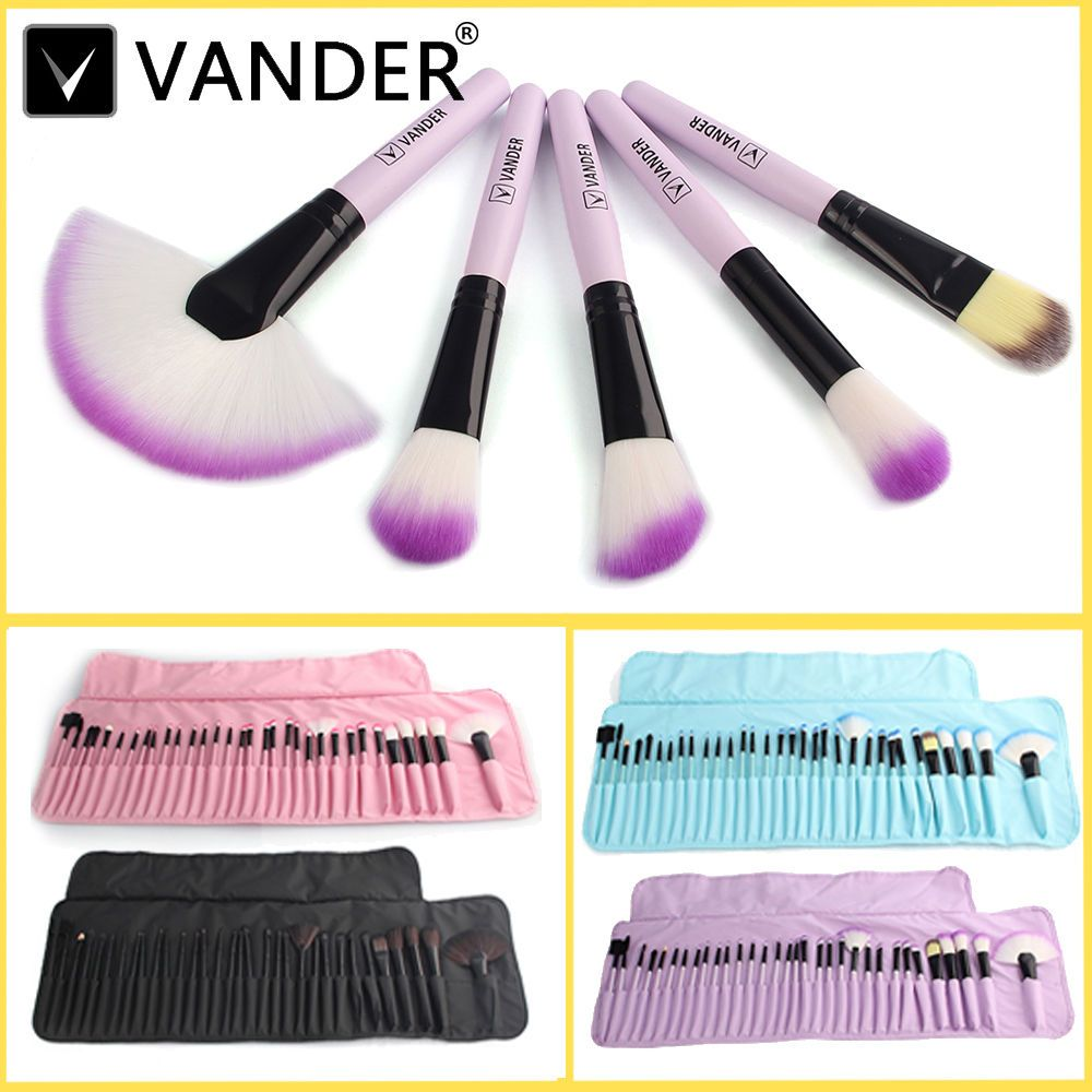 Professional 32 pcs Makeup Brushes Set Cosmetics Vander Eyebrow Lipstick Shadow Make Up Brush Kits pincel Maquigem + Pouch Bag