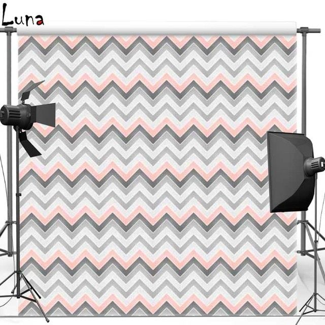 Gray Wave Chevron pattern Vinyl Cloth Photography Background Backdrops for Wedding photo studio Free shipping F1014(8)