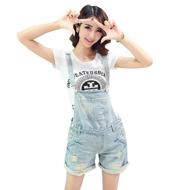 Summer style short vintage denim jumpsuit plus size casual cross belt backless pocket ladies rompers womens jumpsuit 2016