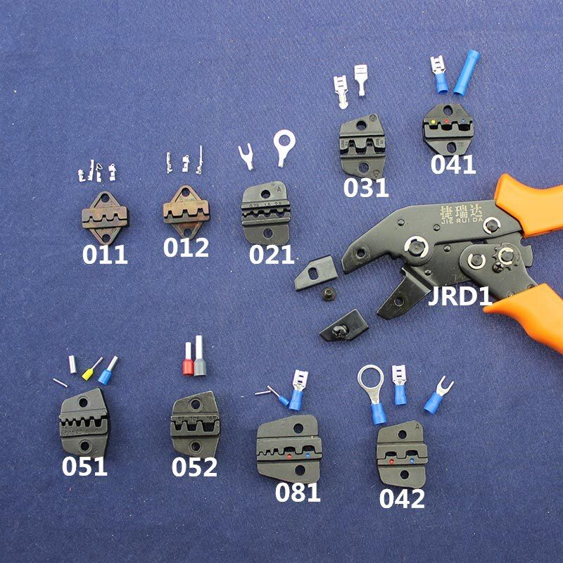 JRD1Series Jaw &Supporting Tools For Hand Crimping Tool Replaceable Jaw For Dupont XH2.54 KF2510 SM 2.54mm JRD1's Length 200mm