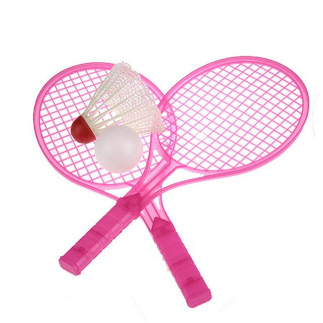 1 Set Novelty Child Dual Badminton Tennis Racket Baby Sports Parent-Child Sports Bed Toy Educational Toys