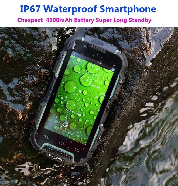 IP67 Waterproof Phone Rugged Smartphone Android Shockproof Mobile Extrem Phone outdoor 4500mAh MTK6572  3G OINOM LMV9D Z6 v5