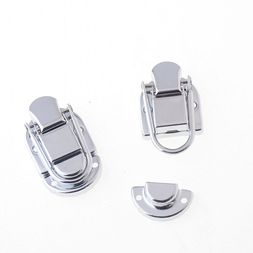 Free Shipping-1 Set Toggle Catch Suitcase Case Box Trunk Box Silver Tone 43x30mm F1484