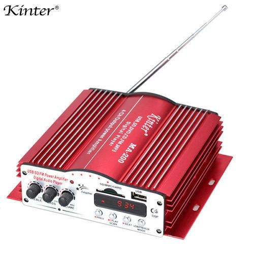 Kinter MA200 4CH 4 Channel Home Car HiFi Audio Power MP3 Amplifier With Remote Control USB SD MMC Card DVD Player MA-200