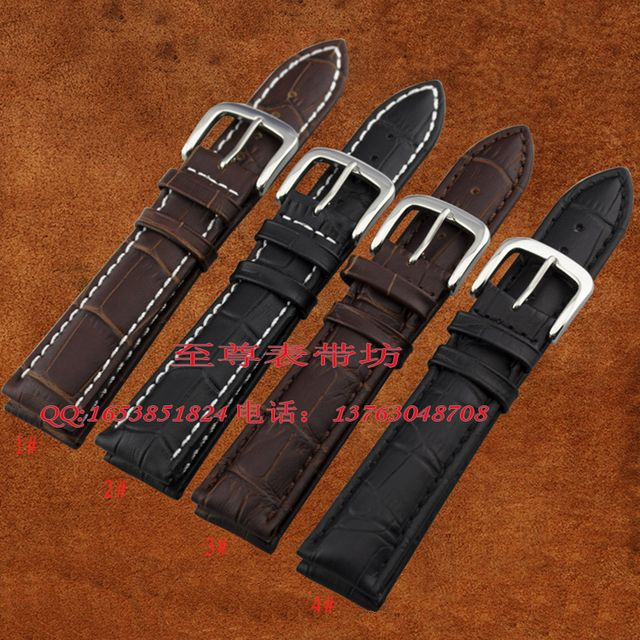 watch strap18mm 19mm 20mm 22mm 24mm 25mm 26mm WatchBand Black Brown genuine leather Watch Bracelet  for men women watch