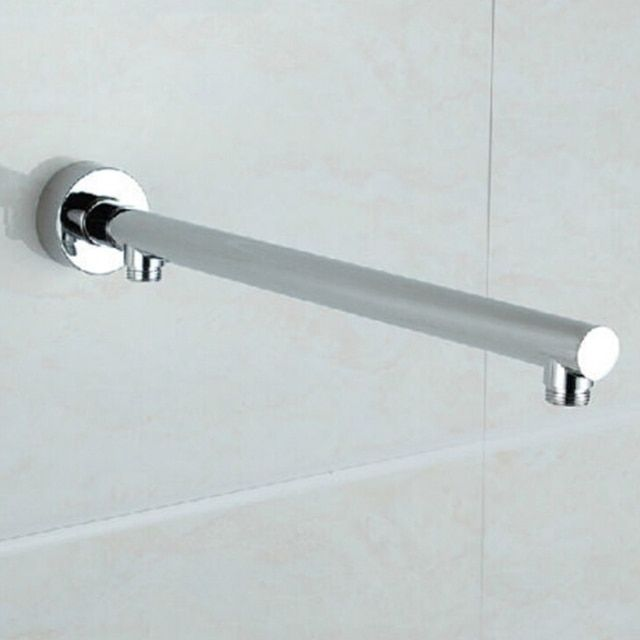 Free Shipping Wholesale And Retail Promotion Wall Mounted Bathroom Shower Arm Round Style Bathroom Chrome Shower Arm