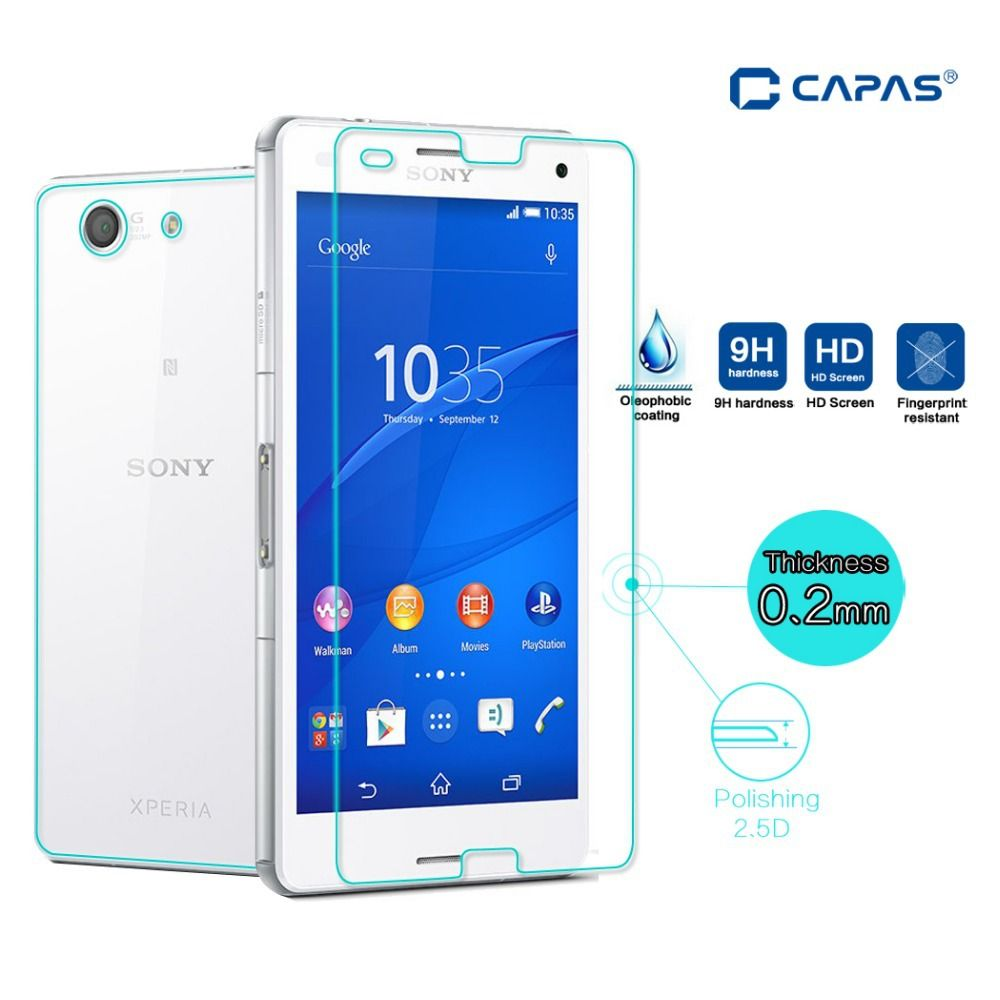 Full Body Tempered Glass for Sony Xperia Z3 Compact Screen Protector Front Back Explosion-Proof Film for Xperia Z3 Mini Z5 Guard