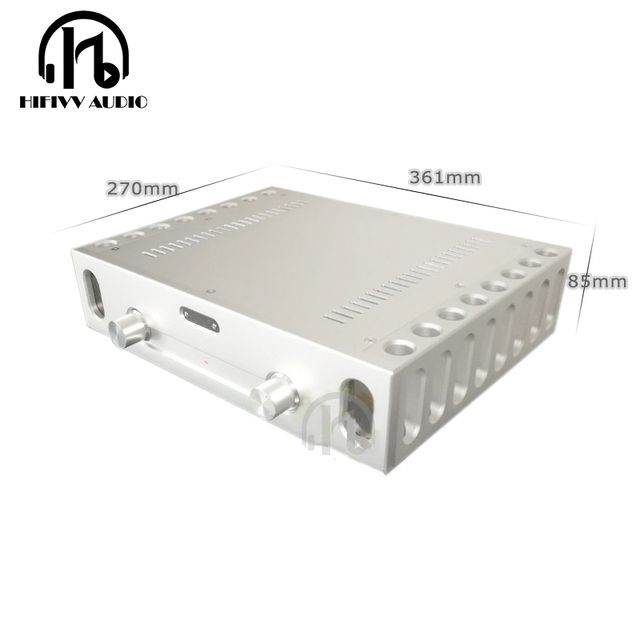 Aluminum Chassis BZ3608B C5200 a1943 933 ksa50 Amplifier case big Box class A amplifier alumium chassis  size 361*85*270mm