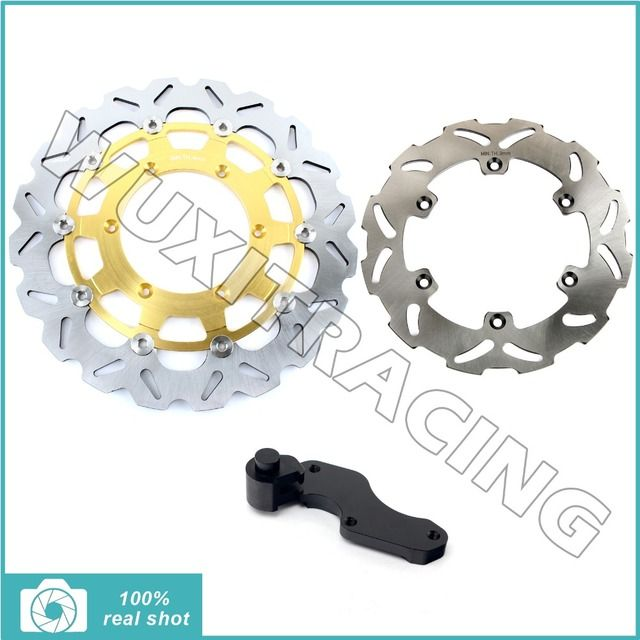for Suzuki RM 125 250 1996 1997 1998 1999 DRZ E S 400 2000-2009 Oversize 320mm Front  Rear Brake Disc Rotor Bracket